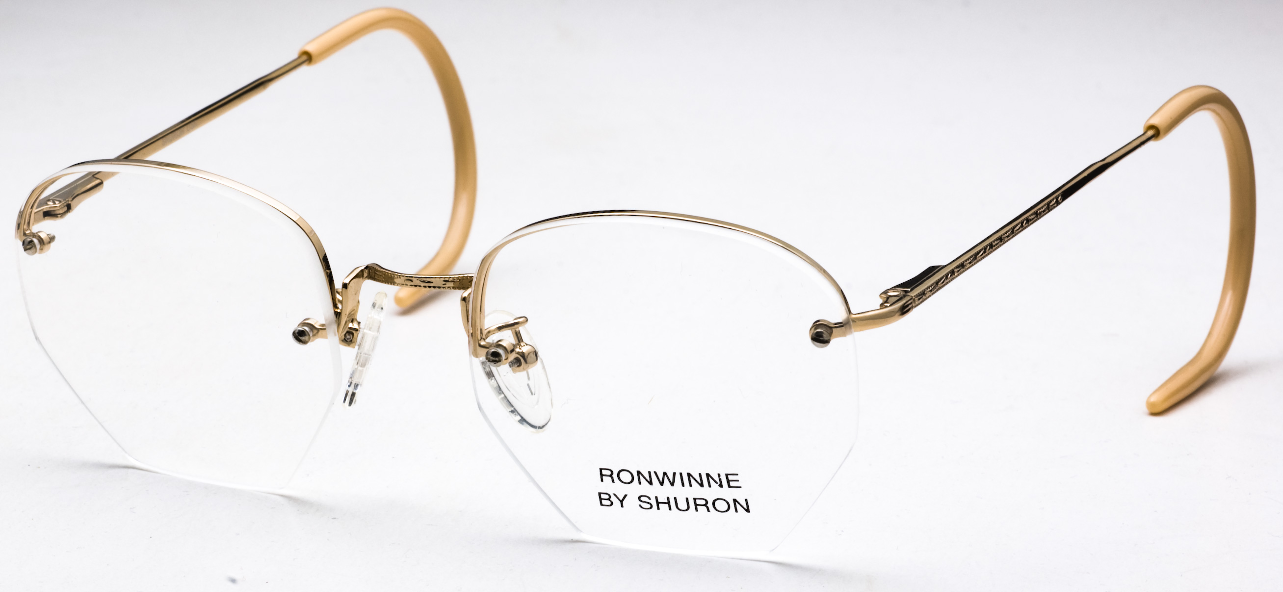 Ronwinne Eyeglasses, Shiny Gold - Cable ⋆ American Central ...
