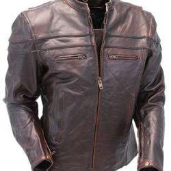 Image of a leather motorcycle jacket made in the usa by Jamin' Leather