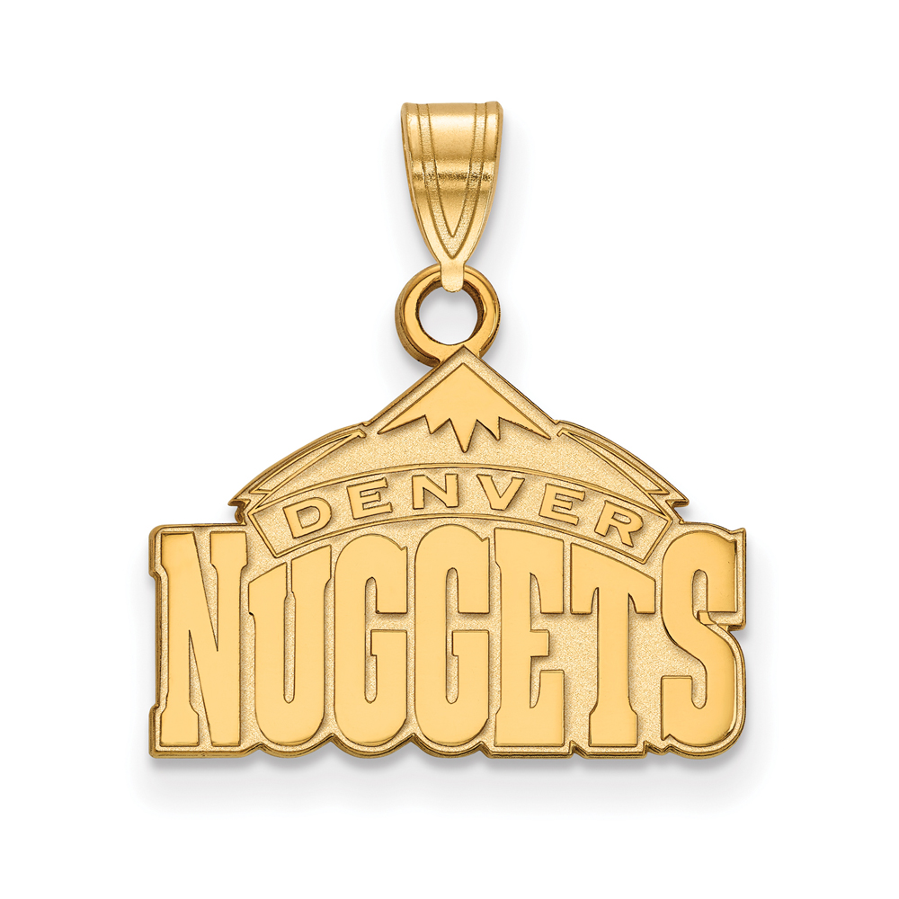 Denver Nuggets Quotes: NBA Denver Nuggets Small Logo Pendant In 14k Yellow Gold