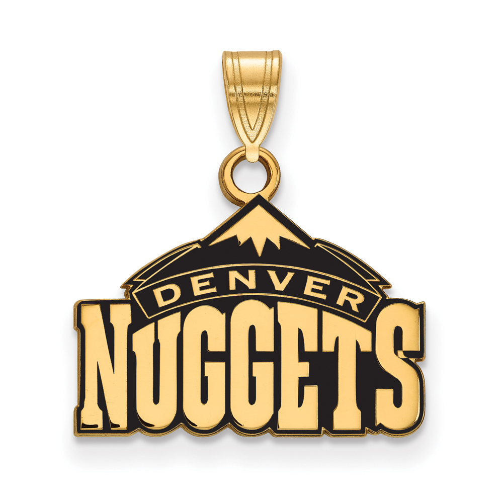 Denver Nuggets Quotes: NBA 14k Yellow Gold Plated Silver Denver Nuggets SM Logo